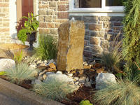 Pondless Water Feature with Prefab Base Unit